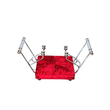nosidło nr2 welur czerwień srebro