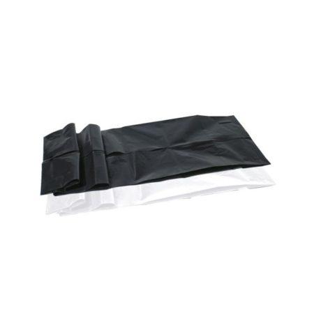 5 Worki na zwłoki czarny i biały białe tło